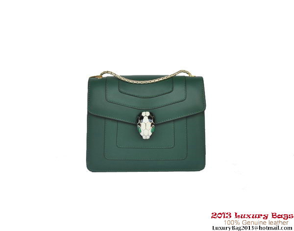 Bulgari Small Shoulder Bag Nappa Leather B34562 Green