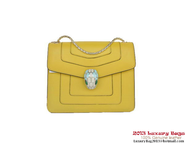 Bulgari Small Shoulder Bag Nappa Leather B34562 Yellow