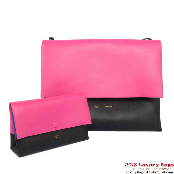 Celine All Soft in Calfskin Shoulder Bag 17218 12086 Rosy&Black