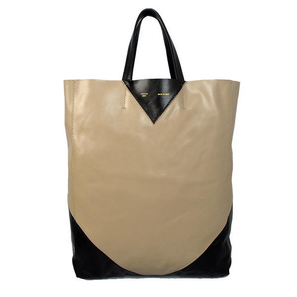 Celine Cabas CCEUR Bag in Smooth Lambskin Leather 16440 Light Gray