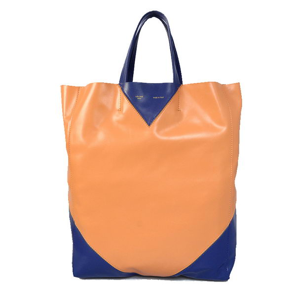 Celine Cabas CCEUR Bag in Smooth Lambskin Leather 16440 Orange