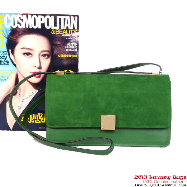 Celine Case Bag Sheepskin & Nubuck Leather 17081 328 Green