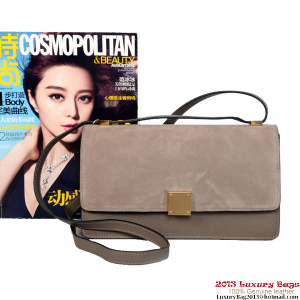 Celine Case Bag Sheepskin & Nubuck Leather 17081 328 Grey