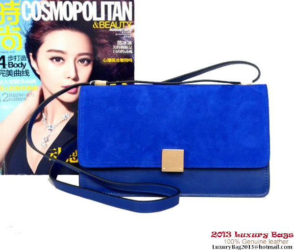 Celine Case Bag Sheepskin & Nubuck Leather 17081 328 RoyalBlue