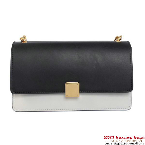 Celine Case Bag Calfskin Leather 17081 1207B Black&White
