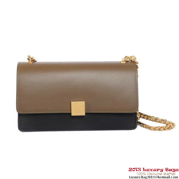 Celine Case Bag Calfskin Leather 17081 1207B Khaki&Black