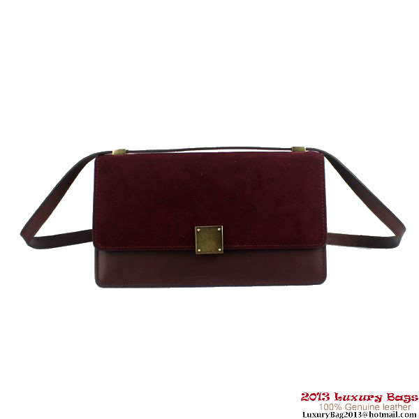 Celine Case Bag Nubuck Leather 17081 3338 Bordeaux
