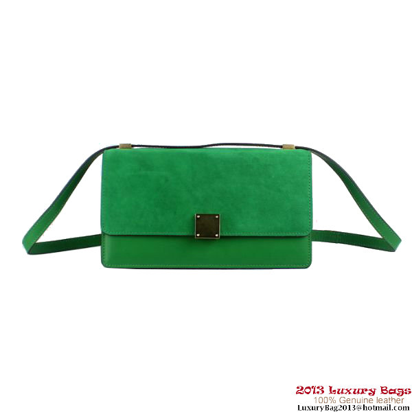 Celine Case Bag Nubuck Leather 17081 3338 Green