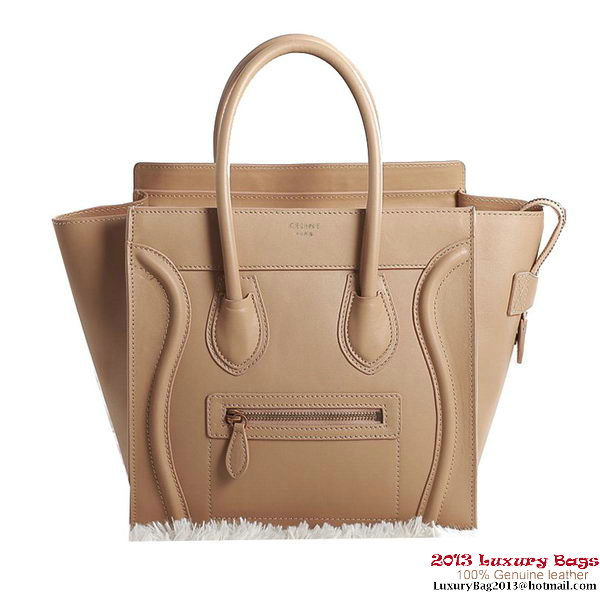 Celine Luggage Micro Boston Bag Original Leather Apricot