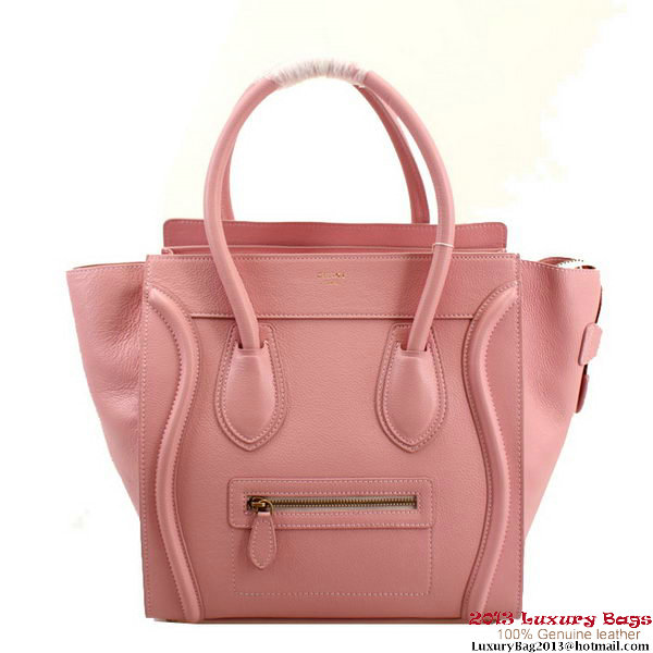 Celine Luggage Mini Boston Bags Clemence Leather 98169 Pink