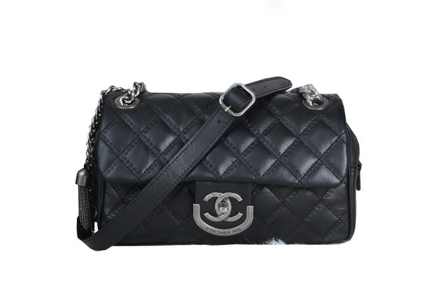 Chanel 31 Rue Cambon Paris Bag in Sheepskin Leather A6818 Black