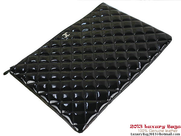 Chanel Clutch Bags Patent Leather A69254 Black
