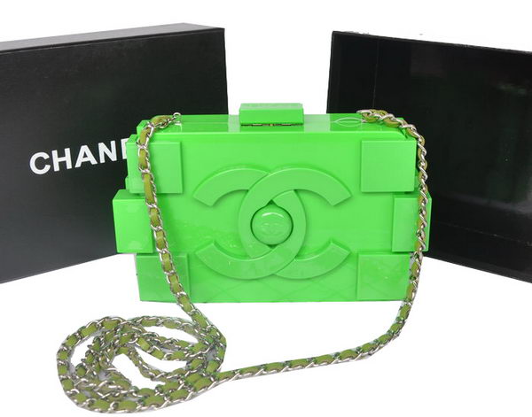Chanel Lego Clutch A37013 Green