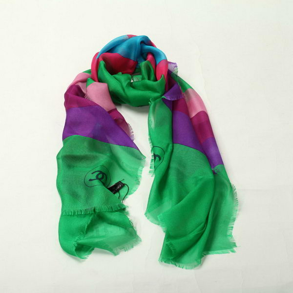 Chanel Scarves Cashmere WJCH040 Green