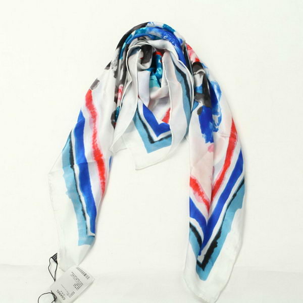 Chanel Scarves Silk WJCH037 Blue&Rose
