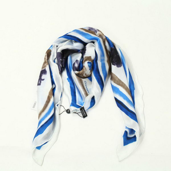 Chanel Scarves Silk WJCH037 Blue