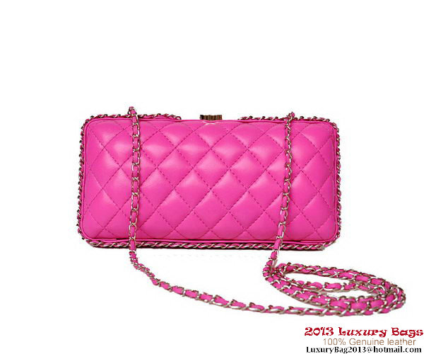 Chanel Sheepskin Leather Evening Bag A69404 Rose