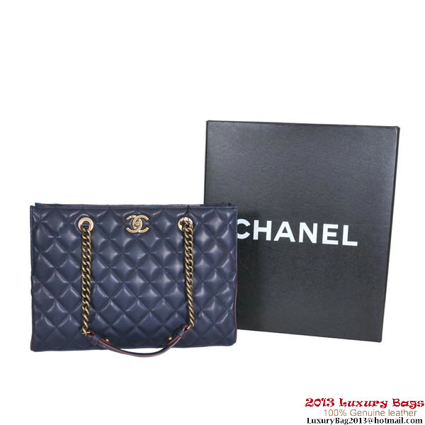 Chanel Shopping Bag Calfskin Leather A30181 Blue