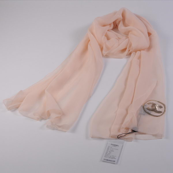 Chonel Scarves Mulberry Silk WJCH015 Light Apricot