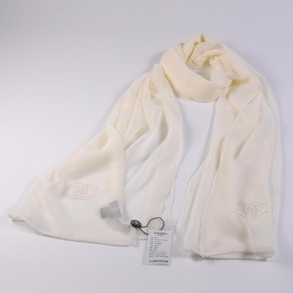 Chonel Scarves Mulberry Silk WJCH017 OffWhite