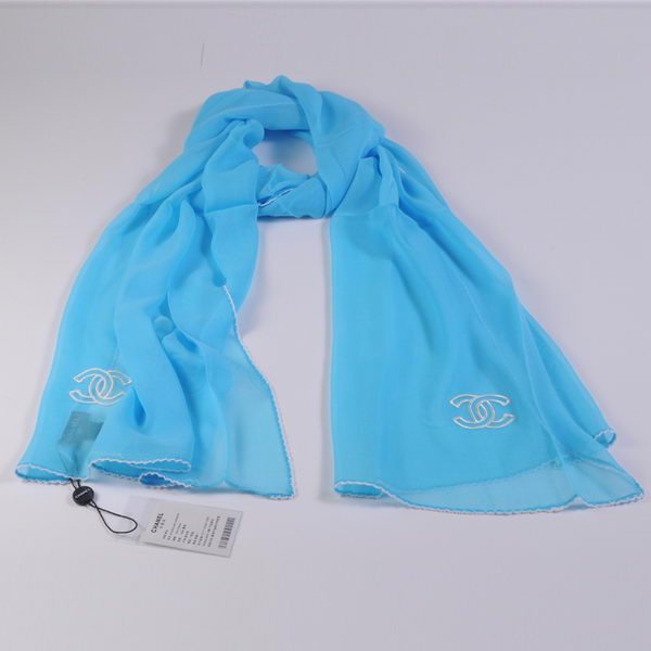 Chonel Scarves Mulberry Silk WJCH017 SkyBlue