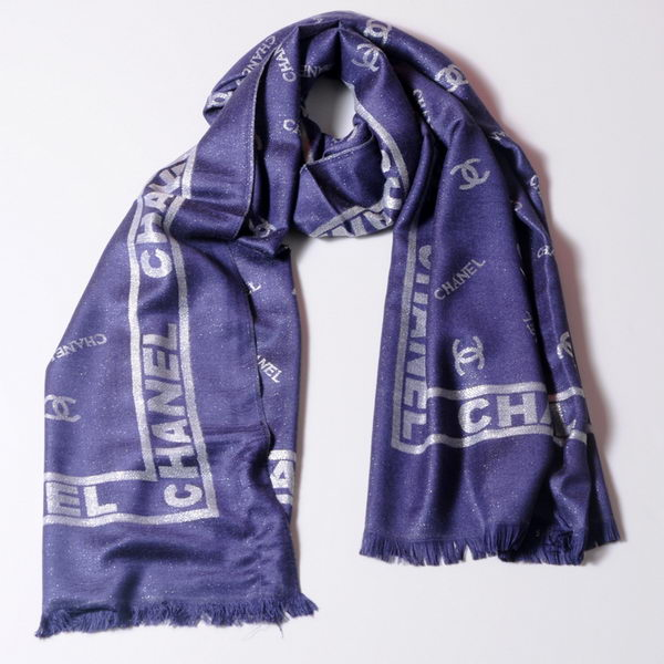 Chonel Scarves Silk WJCH031 RoyalBlue