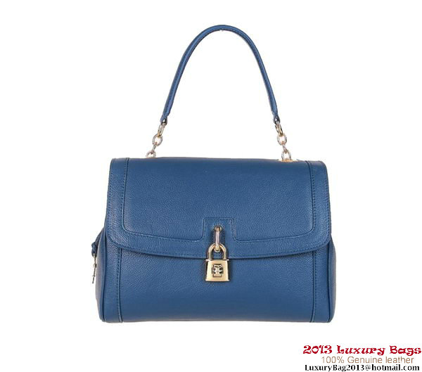 DOLCE&GABBANA Textured Leather Dolce Bag BB4514 Blue