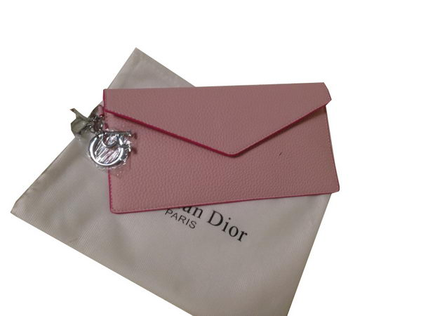 Dior Grainy Leahter Bi-Fold Wallet M550 Pink