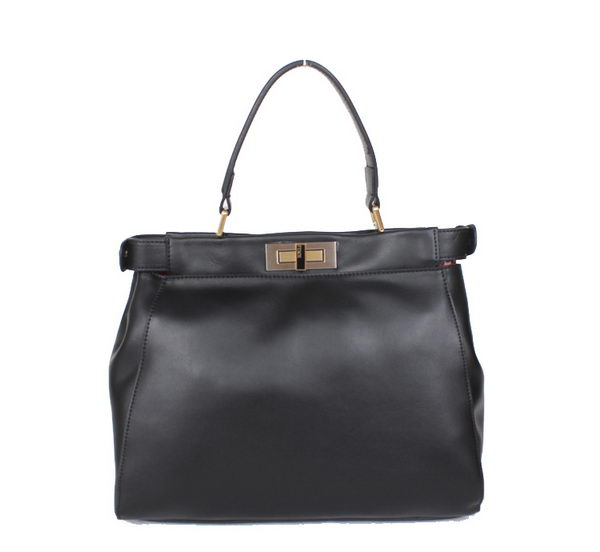 Fendi Icoic Peekaboo Bag Original Smooth Leather F8244 Black