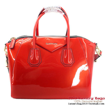 Givenchy Large Antigona Bag Patent Leather 9981 Red