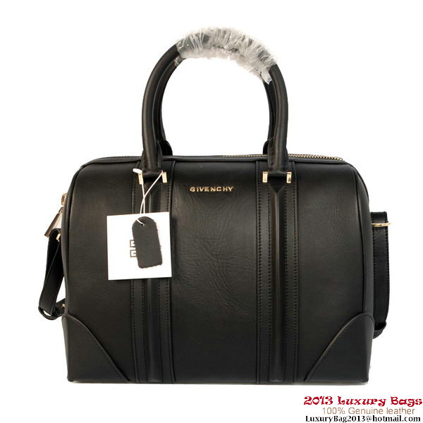 Givenchy Lucrezia Bag Black Calf Leather Boston Bag