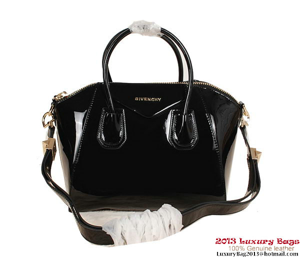 Givenchy Small Antigona Bag Patent Leather 9981S Black