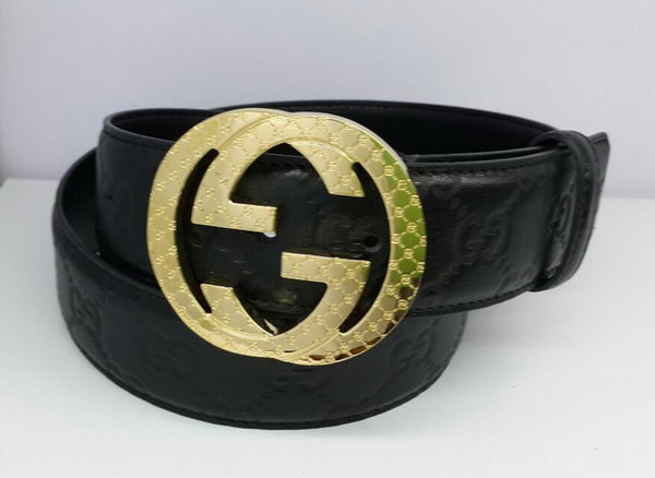 Gucci Belts GG028 Black Gold