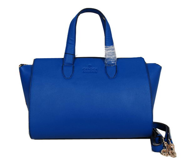 Gucci Glace Calf Leather Tote Bag 331868 Blue