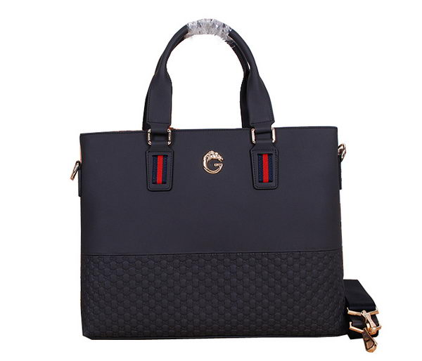 Gucci Guccissima Leather Business Briefcase 86271 RoyalBlue