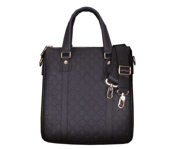 Gucci Guccissima Leather Business Tote Bag 86093 Black