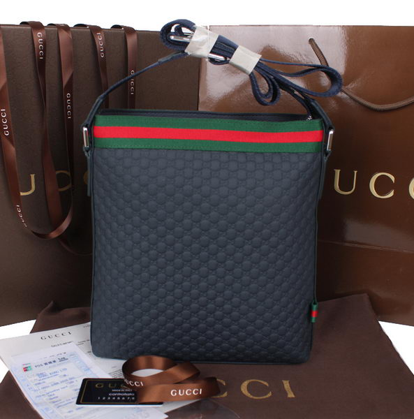 Gucci Guccissima Leather Messenger Bag 50895 RoyalBlue