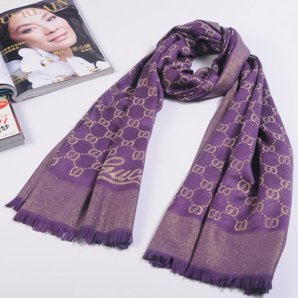 Gucci Scarves Silk WJGG11 Purple&Gold