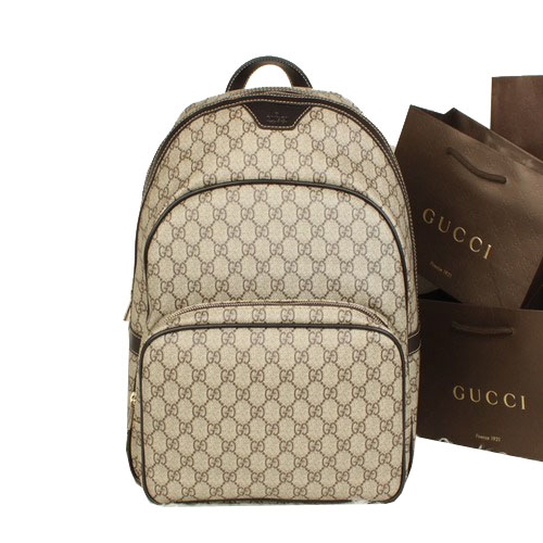 Gucci Supreme Canvas Backpack 322069 Brown