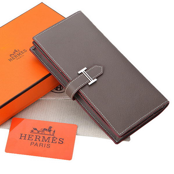 Hermes Bearn Japonaise Bi-Fold Wallet Original Leather A208 Khaki