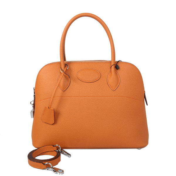 Hermes Bolide 31CM Tote Bags Calf Leather Orange