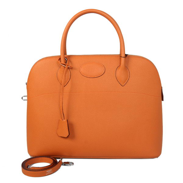 Hermes Bolide 37CM Tote Bags Calf Leather Orange