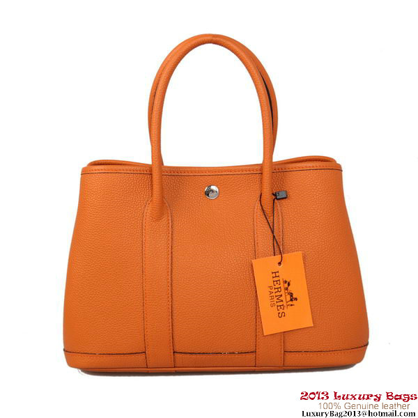 Hermes Garden Party 30CM Bag Calf Leather A1288 Orange