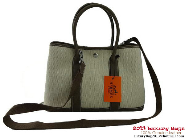 Hermes Garden Party 30CM Bag Fabric Grey