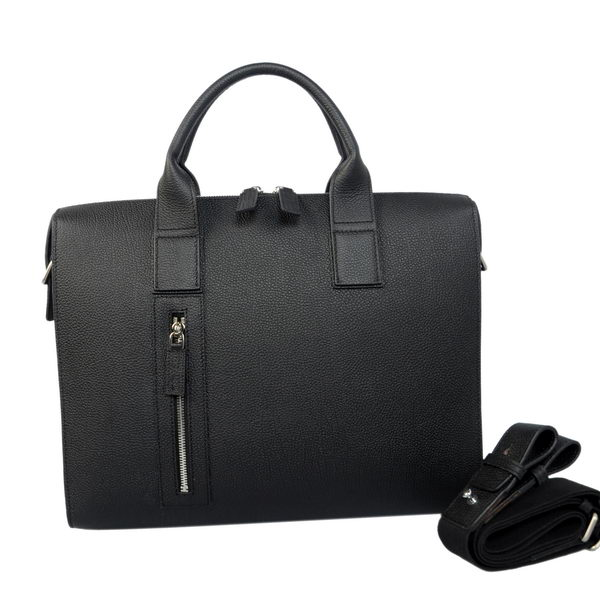 Hermes Mens Briefcase Calf Leather H1705 Black