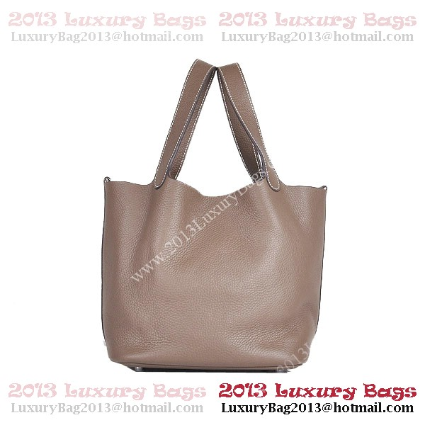 Hermes Picotin Lock MM Bag in Clemence Leather 8616 Khaki