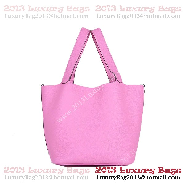 Hermes Picotin Lock MM Bag in Clemence Leather 8616 Pink
