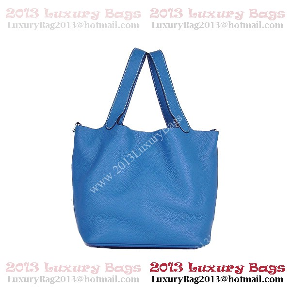Hermes Picotin Lock PM Bag in Clemence Leather 8615 Blue