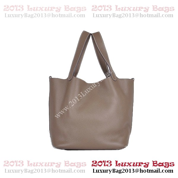 Hermes Picotin Lock PM Bag in Clemence Leather 8615 Khaki