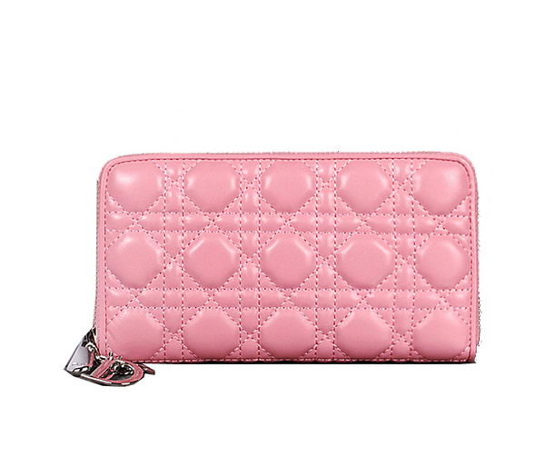 Lady Dior Escapade Wallet Sheepskin Leahter D0082 Pink
